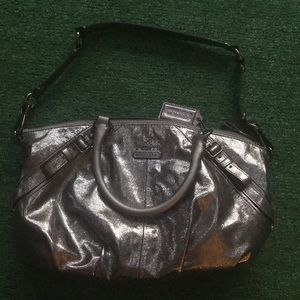 NWOT coach metallic satchel hobo shoulder bag